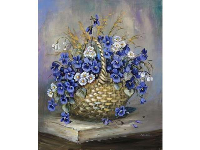 Basket in blue Poster Print by Katharina Schottler (20 x 24)