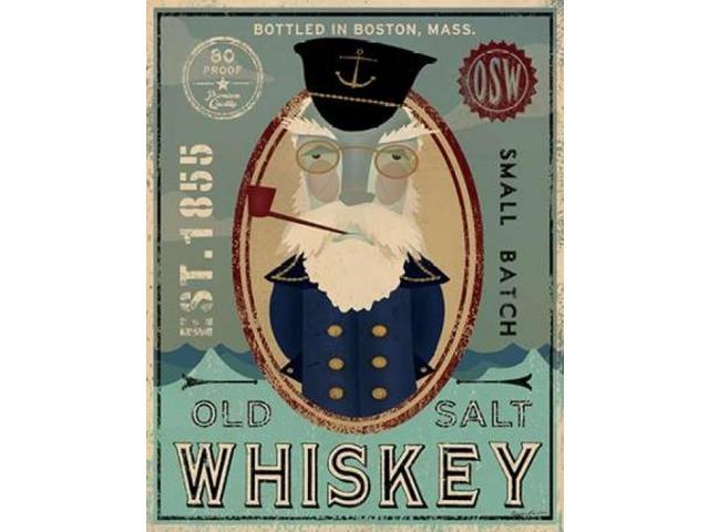 Fisherman III Old Salt Whiskey Poster Print by Fowler Ryan (11 x 14)
