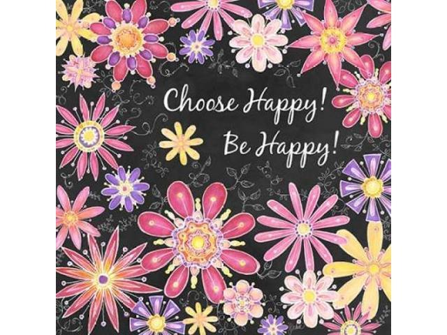 Choose Happy Poster Print by Jacqueline Decker (12 x 12)