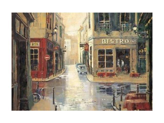 Side  Street Bistro Poster Print by Marilyn Simandle (10 x 14)