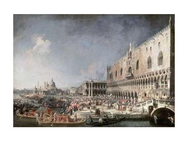 Reception of French Ambassador In Venice Poster Print by Canaletto  (10 x 14)