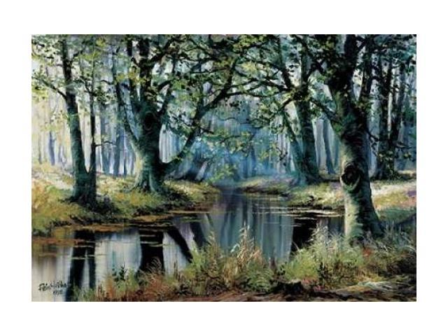 Tranquillity by the trees Poster Print by Reint Withaar (20 x 28)