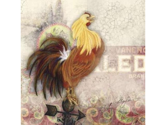 Morning Rooster Poster Print by Alma Lee (24 x 24)