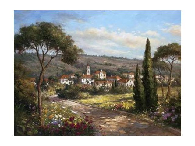 A Garden View Poster Print by Hilger  (11 x 14)