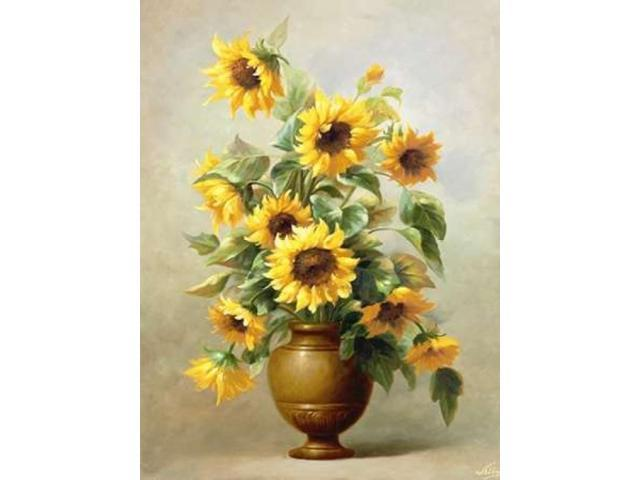 Sunflowers In Bronze II Poster Print by Welby  (11 x 14)