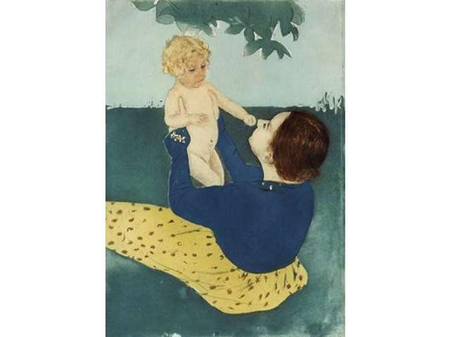Under The Horse Chestnut Tree Poster Print by Mary Cassatt (20 x 28)