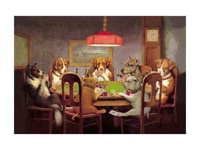 Poker Dogs: A Friend in Need 1903 Poster Print by  C.M. Coolidge  (12 x 18)