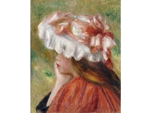 Head of a Young Girl In a Red Hat Poster Print by  Pierre-Auguste Renoir  (8 x 10)