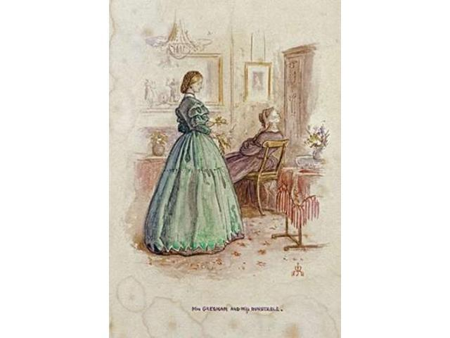 Mrs. Gresham and Miss Dunstable Poster Print by John Everett Millais (20 x 28)