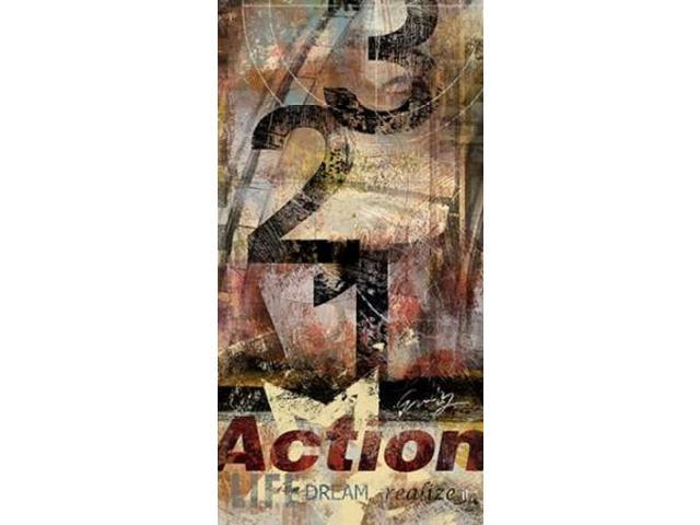 ACTION Poster Print by Eric Yang (10 x 20)