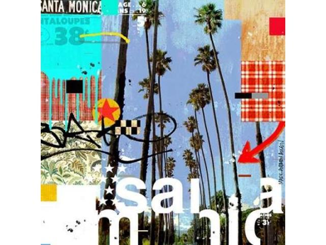 Santa Monica Signs Poster Print by Mark Andrew Allen (12 x 12)
