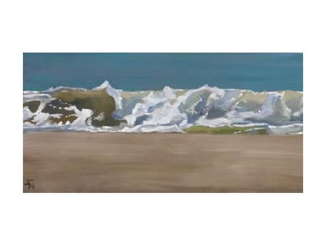 Shore Break 4 Poster Print by Stephen Newstedt (10 x 20)