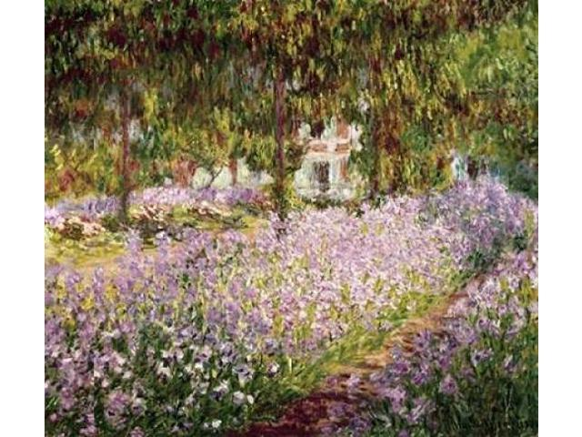 Garden at Giverny Poster Print by Claude Monet (24 x 24)