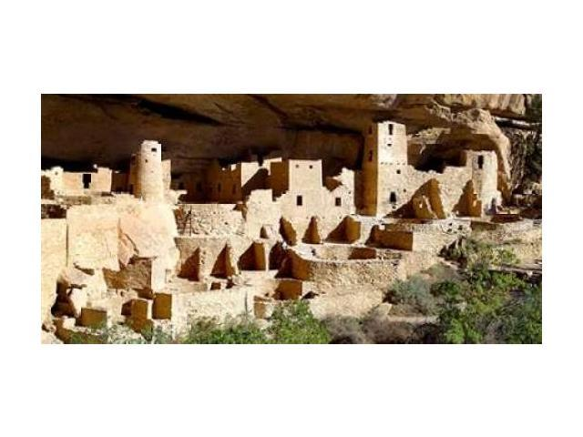 Cliff Palace at Mesa Verde Poster Print by Douglas Taylor (10 x 20)