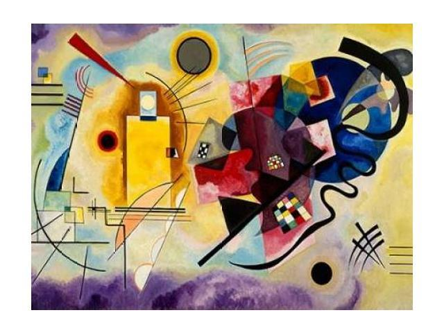 Yellow, Red & Blue Poster Print by Wassily Kandinsky (11 x 14)