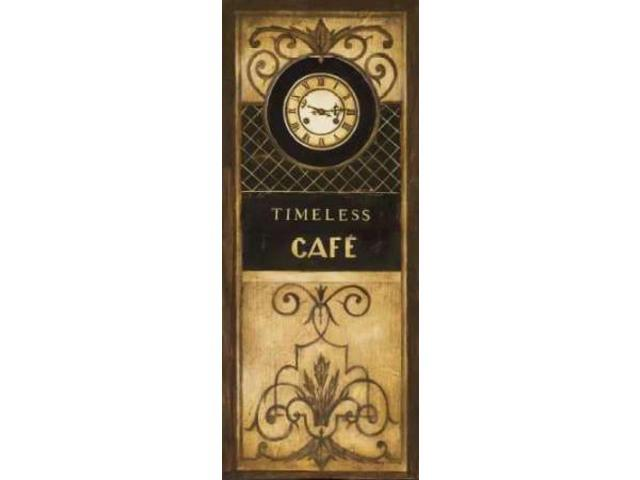 Timeless Cafe Poster Print by Kimberly Poloson (10 x 20)