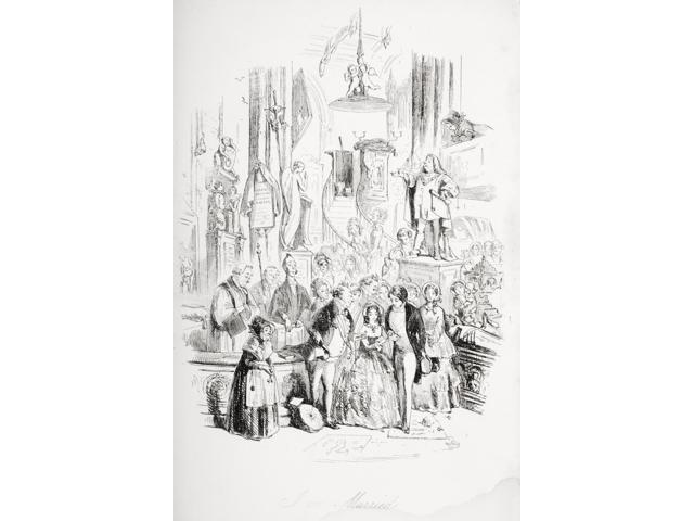 Im Married Illustration From The Charles Dickens Novel David Copperfield By HK Browne Known As Phiz Poster Print (12 x 18)
