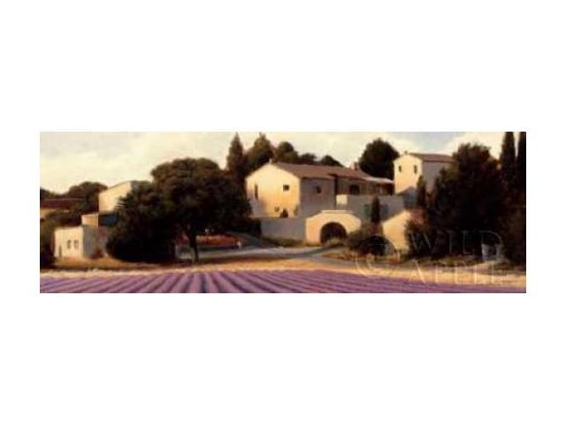 Lavender Fields Panel I Crop Poster Print by James Wiens (12 x 36)