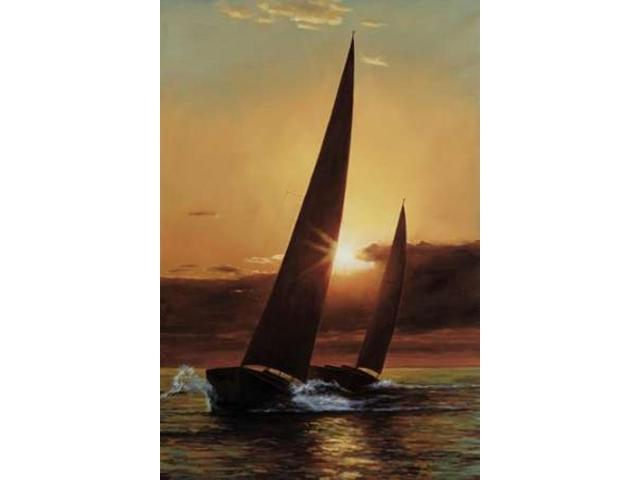 Red Sails Poster Print by Diane Romanello (24 x 36)