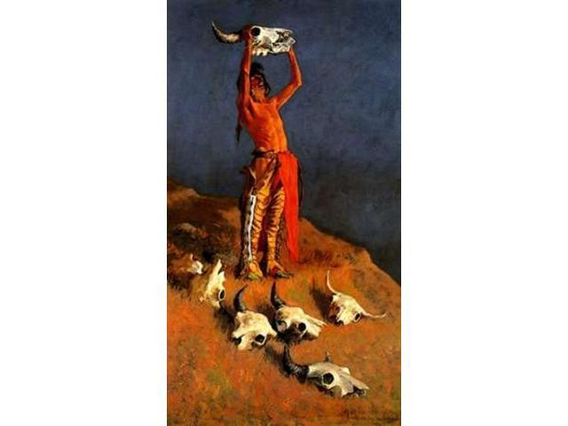 Conjuring Back The Buffalo Poster Print by Frederic Remington (24 x 36)