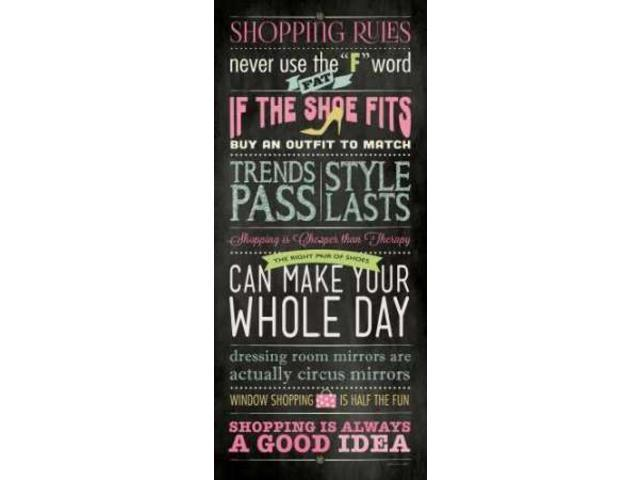 Shopping Poster Print by Stephanie Marrott (24 x 48)