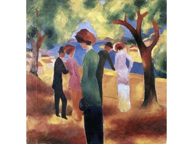 Lady in a Green Jacket Poster Print by  August Macke  (12 x 12)
