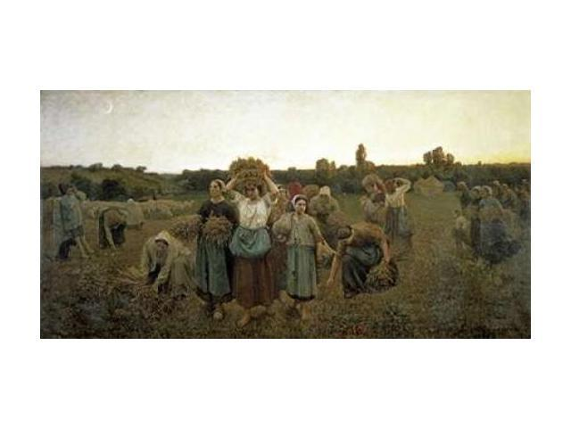 The Recall of the Gleaners Poster Print by Jules Adolphe Breton (24 x 36)