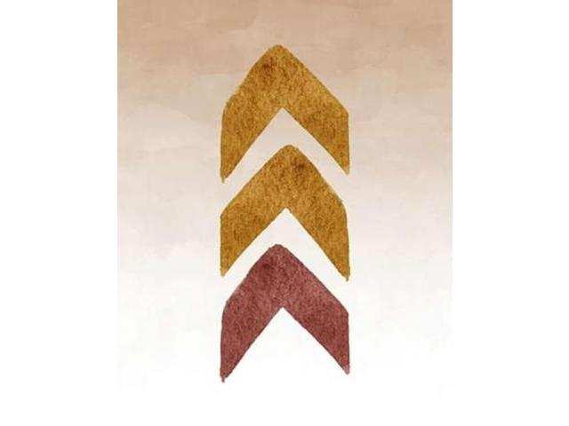 Gold and Maroon Tribal Arrows Poster Print by Tara Moss (11 x 14)