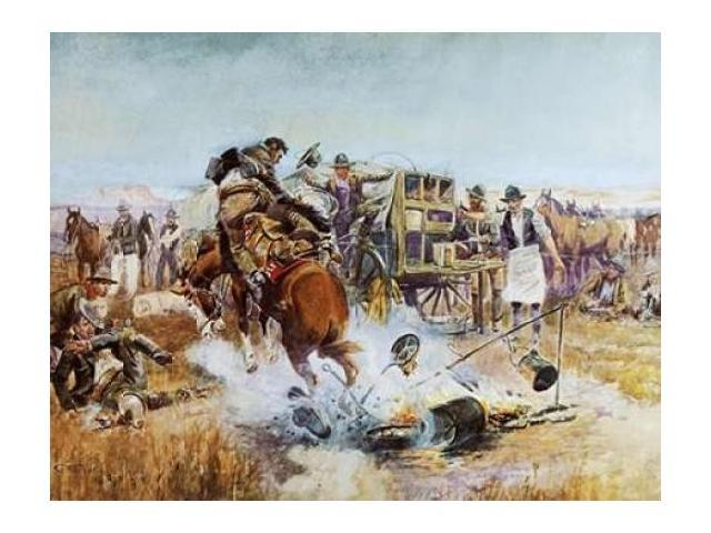 Bronc to Breakfast Poster Print by Charles M. Russell (22 x 28)