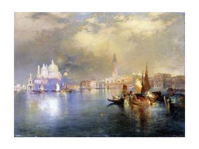 Moonlight in Venice Poster Print by  Thomas Moran  (9 x 12)