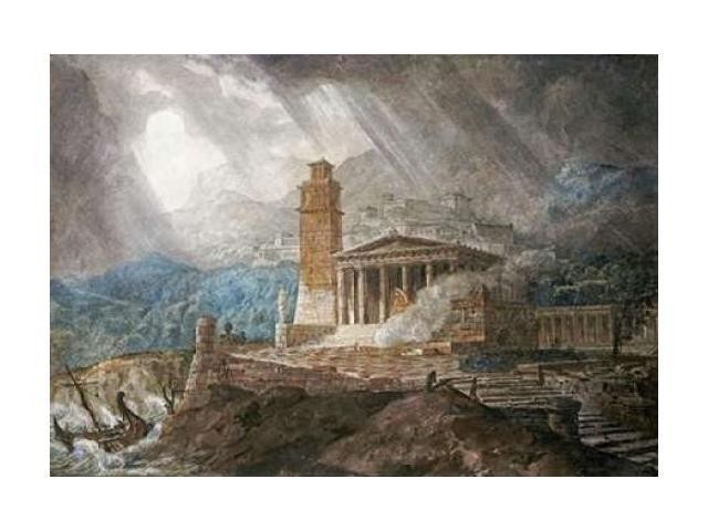 A Capriccio of a Roman Port During a Storm Poster Print by Joseph Michael Gandy (20 x 28)