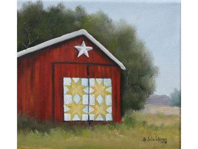 Quilt Barn Poster Print by Julie Peterson (12 x 12)