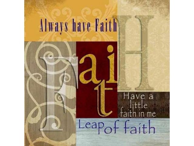 Funky Faith Poster Print by Lisa Wolk (24 x 24)