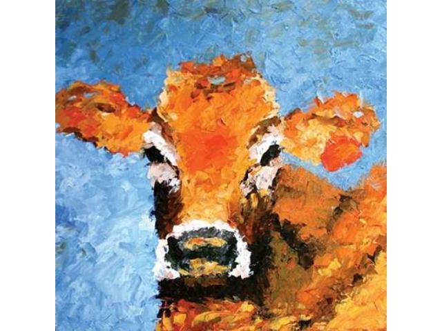 Cow Poster Print by Leslie Seata (24 x 24)