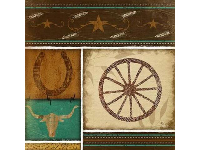 Western Wheel Poster Print by Jennifer Pugh (12 x 12)