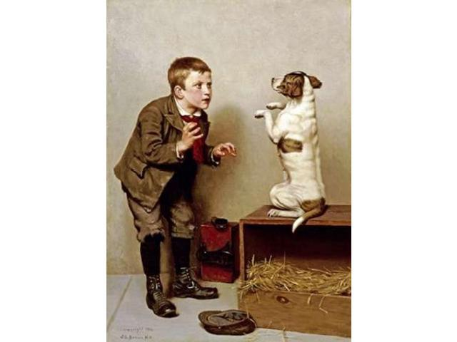 Dont Move Poster Print by  John George Brown  (10 x 14)
