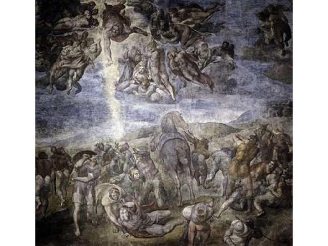 The Conversion of Saul Poster Print by  Michelangelo (24 x 24)