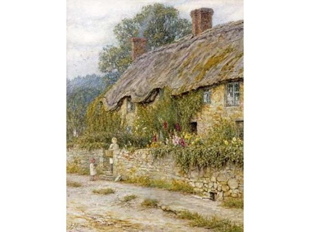 Cottage Near Wells Somerset Poster Print by Helen Allingham (18 x 24)