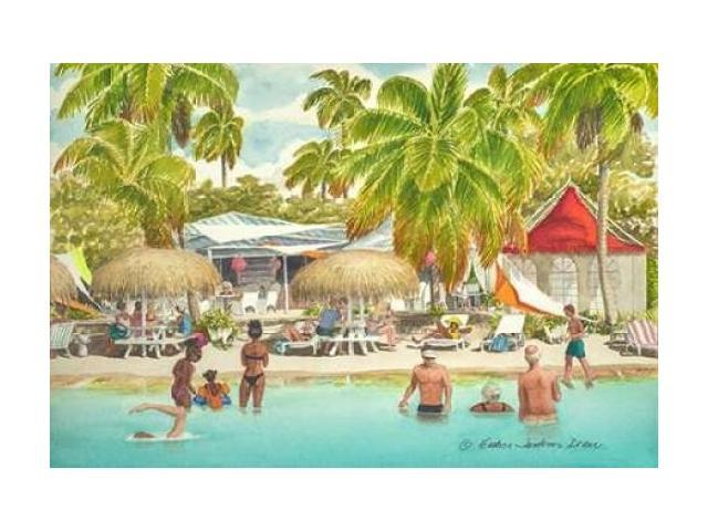 Beach Day Poster Print by Evelyn Jenkins Drew (24 x 36)