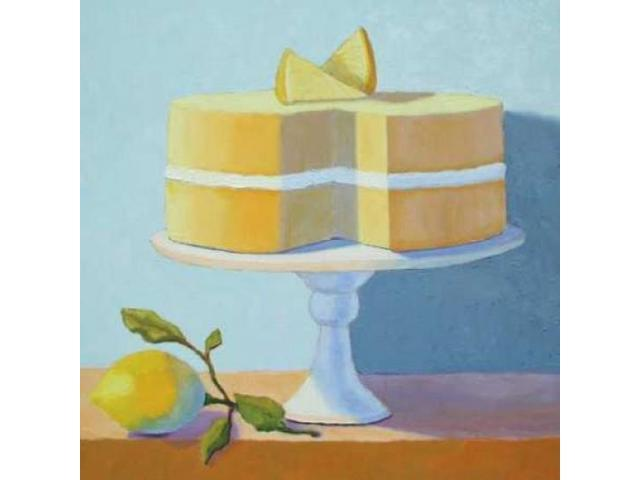 Double Layer Lemon Cake Poster Print by Patricia Doherty (24 x 24)