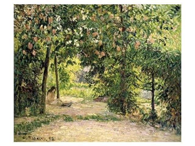 The Garden in Springtime at Eragny Poster Print by  Camille Pissarro  (10 x 12)
