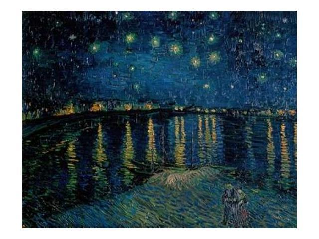 Starlight Over the Rhone Poster Print by  Vincent Van Gogh  (8 x 10)