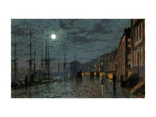 City Docks By Moonlight Poster Print by John Atkinson Grimshaw (24 x 36)
