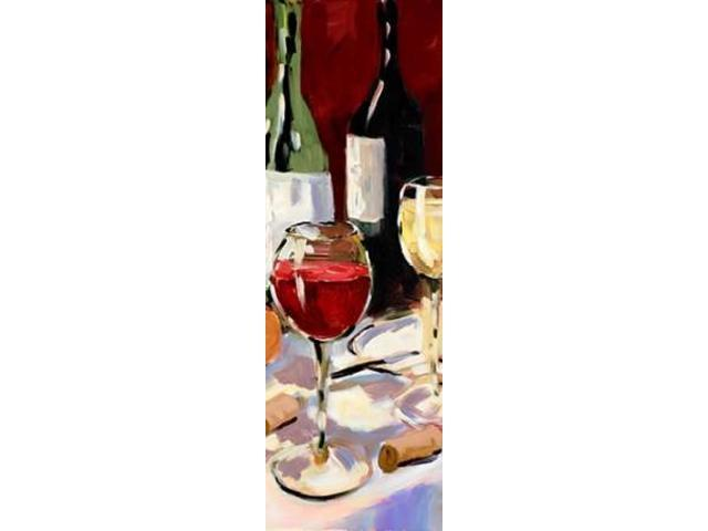 Wine and Dine II Poster Print by Jane Slivka (12 x 36)