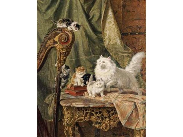 A Musical Interlude Poster Print by Henriette Ronner-Knip (22 x 28)