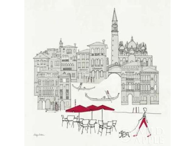 World Cafel IV - Venice Red Poster Print by Avery Tillmon (24 x 24)