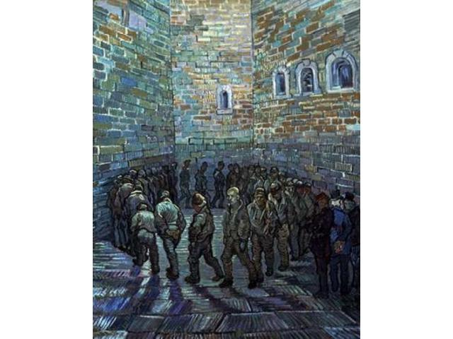 Prisoners Exercising - After Dore Poster Print by Vincent Van Gogh (22 x 28)