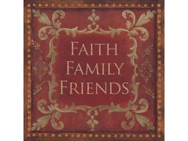 Faith-Family-Friends Poster Print by Jo Moulton (24 x 24)