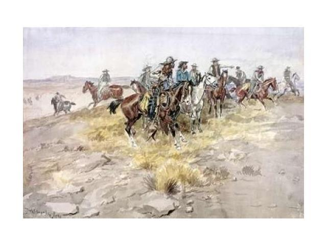 Cowboys Poster Print by Charles M. Russell (20 x 28)