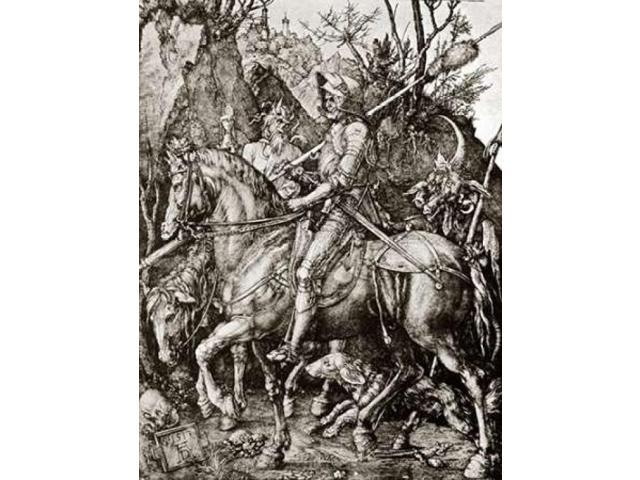 Knight Death And The Devil Poster Print by Albrecht Durer (22 x 28)